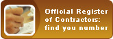 Official Register of Contractors: find your number